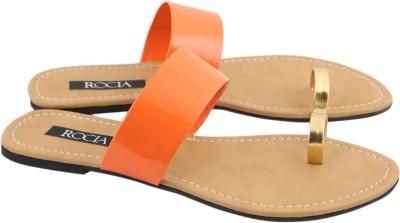 Rocia Women Orange, Beige Flats