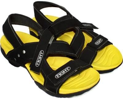 Maayas Men Black, Yellow Sandals