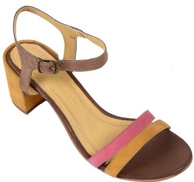 Salt N Pepper 14-146 Wendy Yellow Fuschia Women Yellow Heels