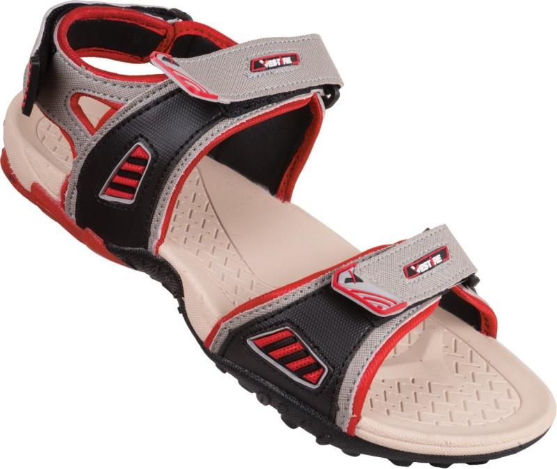 Vestire Men Beige Red Sandals