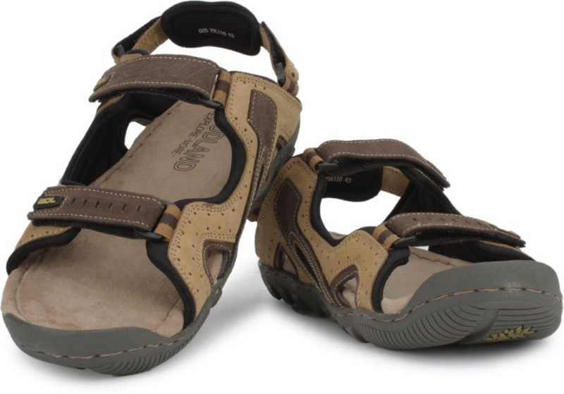 Woodland Men Beige Sandals