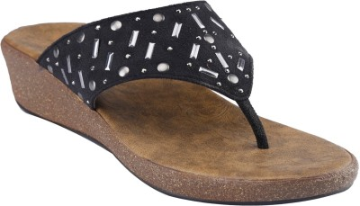 Shoe Bazar Women Black Wedges