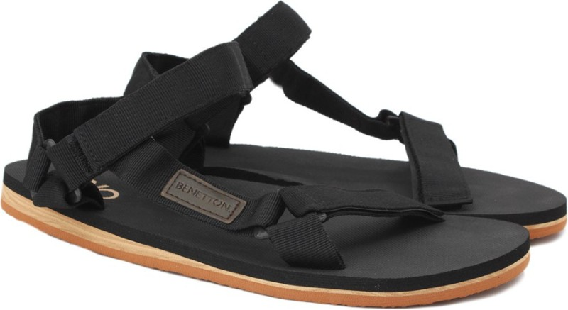 4c75d71b2 -40% United Colors of Benetton Men Black Sports Sandals