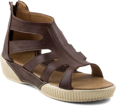 Wellworth Women Brown Sports Sandals