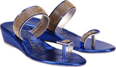 Fashion Mafia Women Blue Wedges