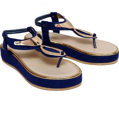 Royal Footwear Women Blue Wedges