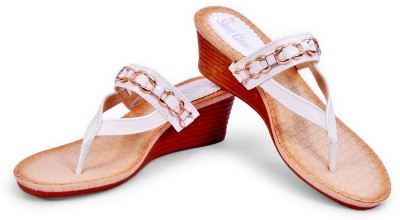 The Shoe Closet Women White Wedges