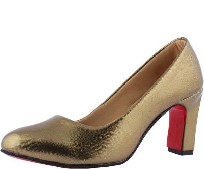 Totes Gallore Women Gold Heels