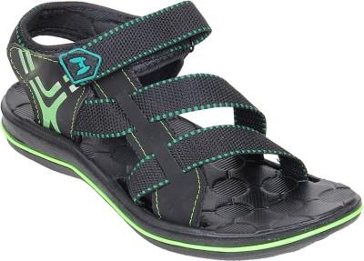 Goyal City Son Green Men Green, Black Sandals