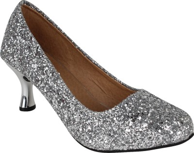 Authentic Vogue Women Silver Heels