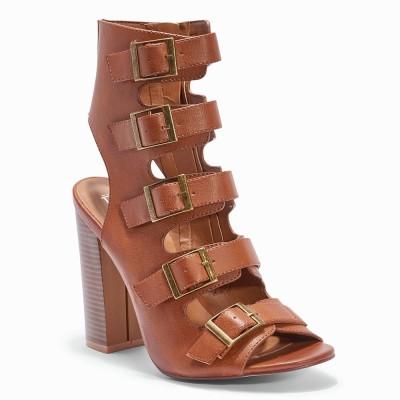 Truffle Collection Women Tan Heels
