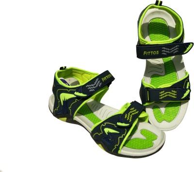 FITTOS Men Green, Blue Sandals