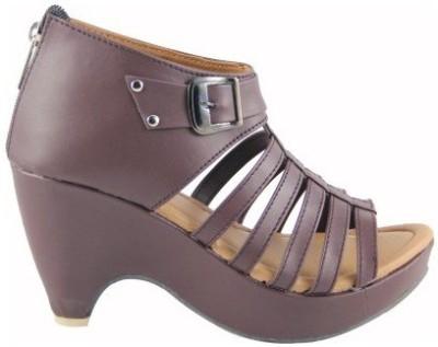 Nshell Women Brown Heels