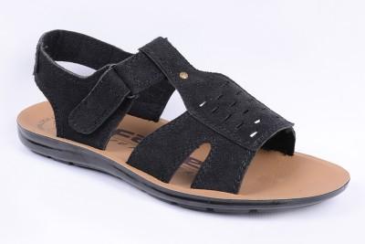 Orange Men Black Sandals