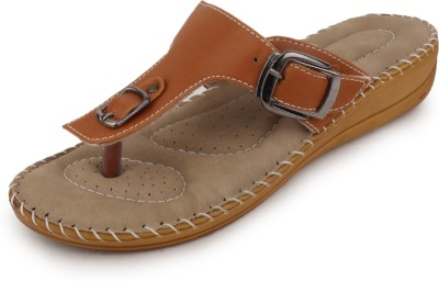 Metrogue Women Brown, Beige Flats