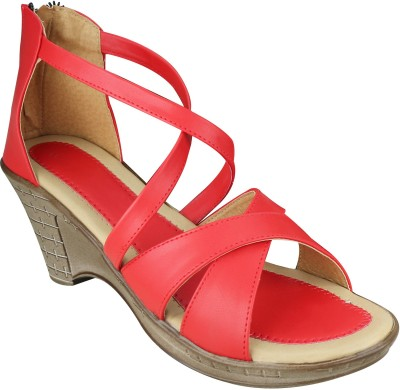 SMART TRADERS Girls Red Sandals
