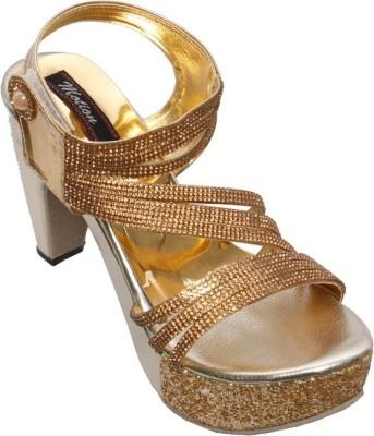 Step Zone Women Gold Heels