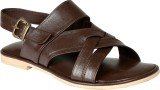Shoe Bazar Men Brown Sandals
