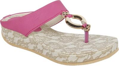 Authentic Vogue Women Pink Flats