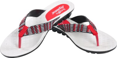 Ajanta Women White, Red, Black Flats