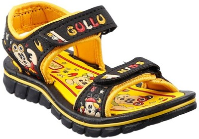 Hot Dog Baby Boys Yellow Sandals