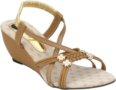 Collection13 Women Beige Wedges