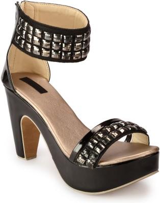 Fashionwalk Women Black Heels