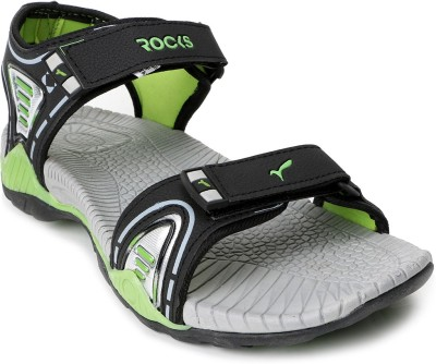 Welcome Men Black, Green Sandals