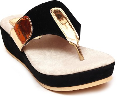 Unique Selection Women Black Wedges