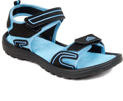 Asian Women Black, Blue Sports Sandals