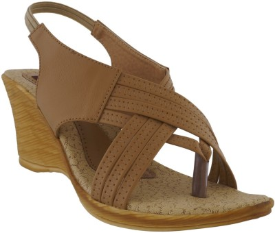 Footsy Women Beige Wedges
