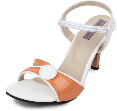 Cara Mia Women White Heels