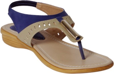 Footshez Women Blue Flats