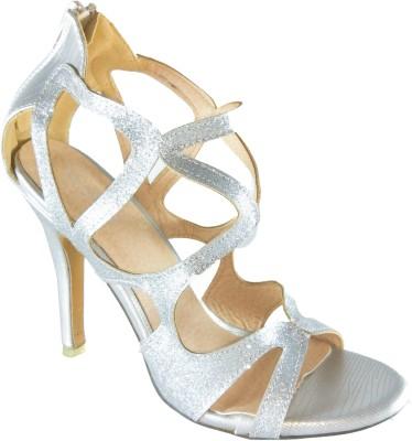 destilo Girls Silver Heels