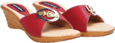 Marie Comfort Girls Red Wedges