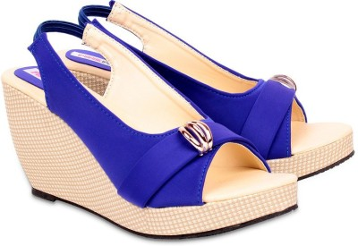 dec9c9c1623 Pink Fever Women Blue Wedges available at Flipkart for Rs.499