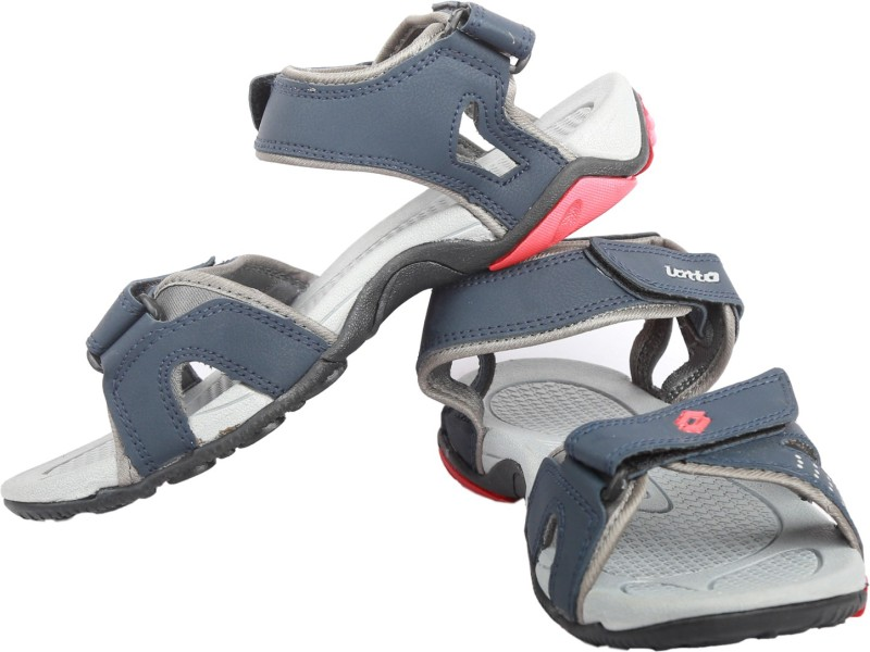 Lotto Men Grey Red Sandals