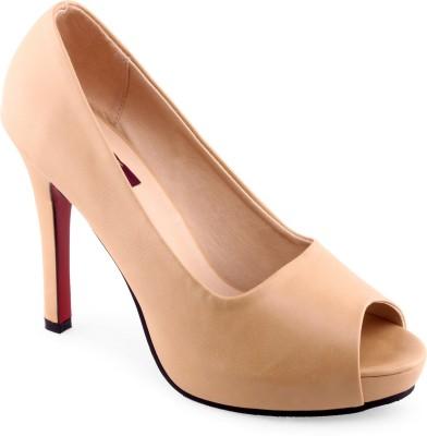 Shuz Touch Women Beige Heels