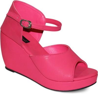 Zikrak Exim Women Pink Wedges
