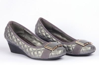 Silver Tulip Women Grey Wedges