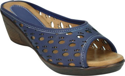 SMART TRADERS Women Blue Wedges