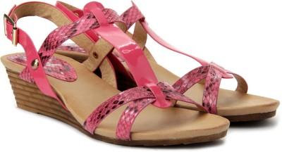 Plosh Women Pink Wedges