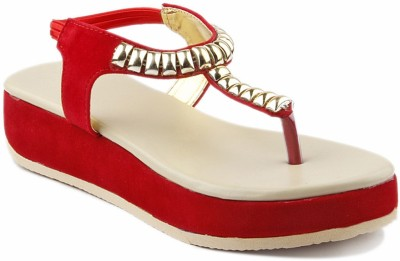 Creative Style Women Red Wedges