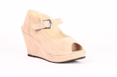 Anand Archies Women Beige Wedges
