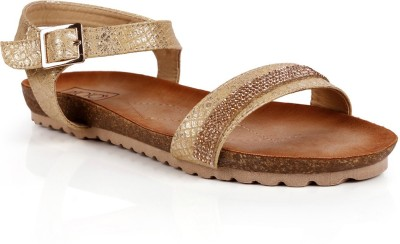 INTOTO Women Gold Flats