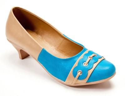 Marc Loire Two Shade Backup Women Beige, Blue Heels