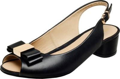 Hidesign Women Black Heels