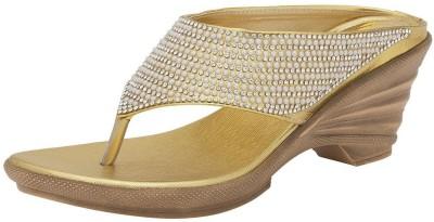 Avtar Footwear Women Gold Wedges