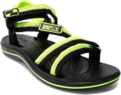 AMVI Boys Green, Yellow Sandals