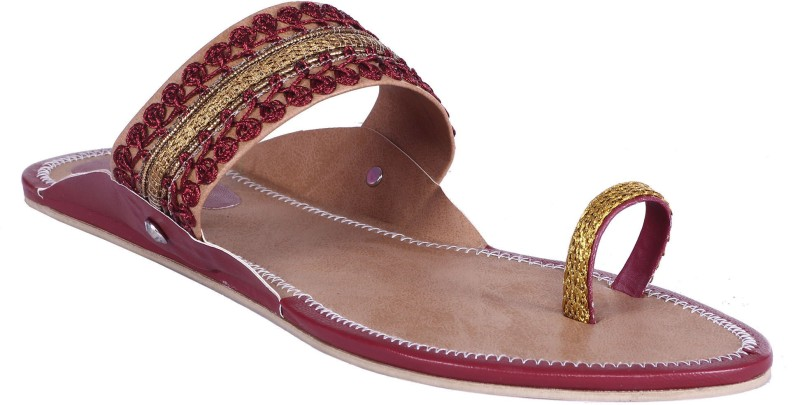 Royal Collection Women Maroon Sandals